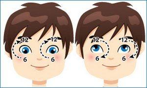 Ребенок следит глазками за часами