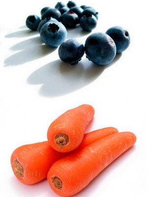 Больше есть чернику и морковку