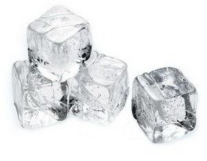 Массаж кубиками льда