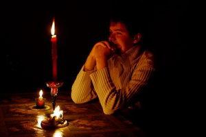Соляризация глаз на свече