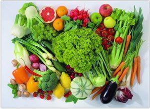 Здоровое питание фруктами и овощами