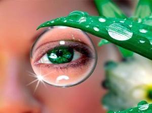 Глаз через каплю