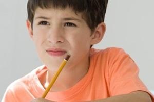Мальчик с карандашом