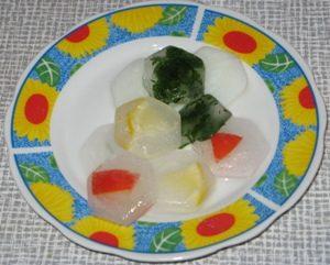 Лед в тарелке